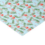 Christmas Watercolor Candy & Pines Pattern Tissue Paper