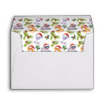 Christmas Watercolor Forest Animals Pattern Envelope