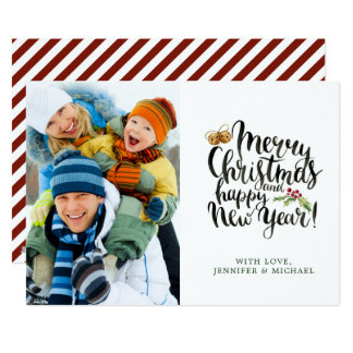 Christmas | Watercolor - Happy New Year Quote Card