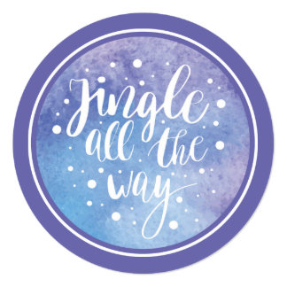Christmas | Watercolor - Jingle All the Way Quote Card