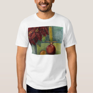 Christmas Watercolor painting poinsettia,candle T-shirt