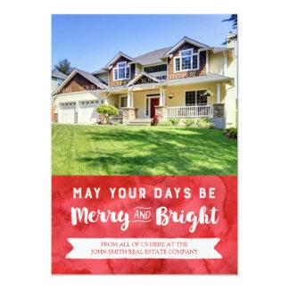 Christmas Watercolor Photo Card Real Estate