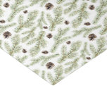 Christmas Watercolor Pine Cones Pattern Tissue Paper