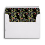Christmas Watercolor Typography Pattern Envelope