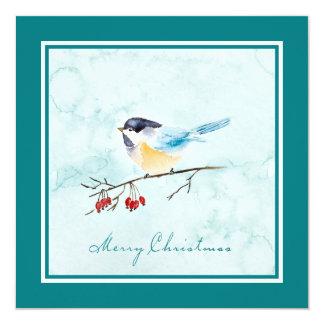 Christmas | Watercolor - Winter Bird & Berries Card