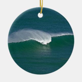 Christmas wave ceramic ornament