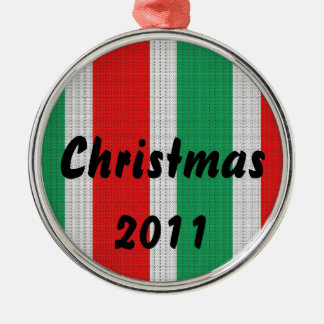 Christmas Weave Metal Ornament