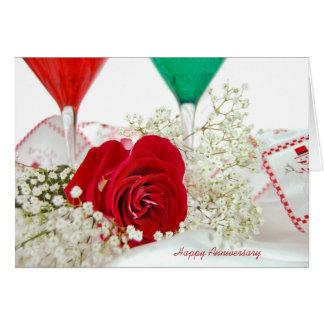Christmas wedding anniversary for couple card