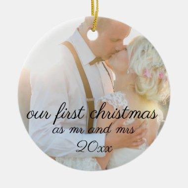 christmas wedding, christmas ornaments, ceramic ornament