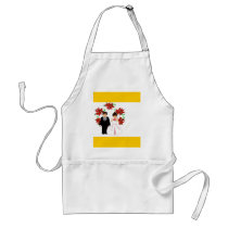 Christmas Wedding Couple IV In Gold Adult Apron