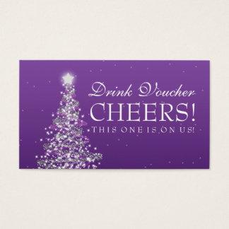 Christmas Wedding Drink Voucher Purple