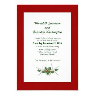 christmas wedding invitations zazzle