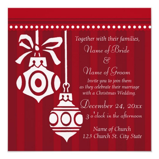 Christmas Wedding Invitation Cards