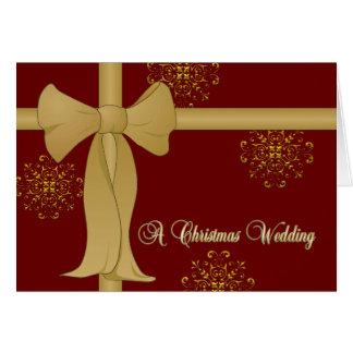 Christmas Wedding Invitations Greeting Card