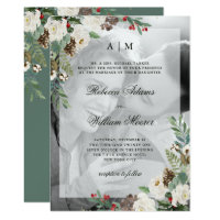 Christmas Wedding | Photo Invitation with Overlay