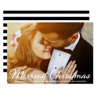 Christmas Wedding Photo Script Holidays Card at Zazzle