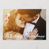 Christmas Wedding Photo Script Holidays Card
