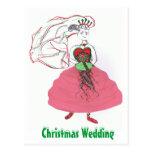 Christmas Wedding Postcards