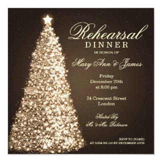 Christmas Wedding Rehearsal Dinner Gold Card