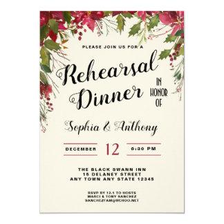 Christmas Wedding Rehearsal Dinner Invitation