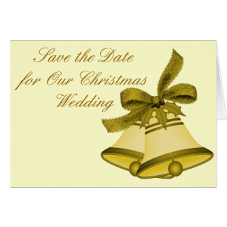 """Christmas Wedding"" - Save the Date Card"