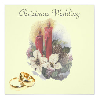 Christmas wedding - wedding invitation