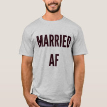 Christmas wedding xmas hanukkah married af funny T-Shirt