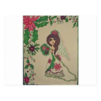 christmas Weding Postcard