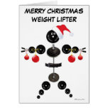 Christmas Weight Lifter Greeting Cards