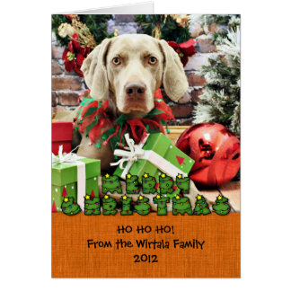 Christmas - Weimaraner - Lucy Greeting Cards