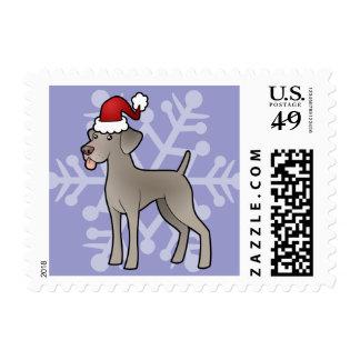 Christmas Weimaraner Stamps
