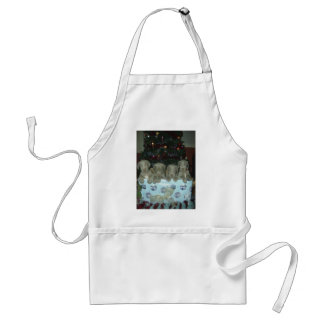 Christmas Weimaraner Puppies Adult Apron