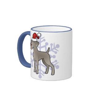Christmas Weimaraner Ringer Coffee Mug