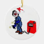 Christmas Welder Double-Sided Ceramic Round Christmas Ornament