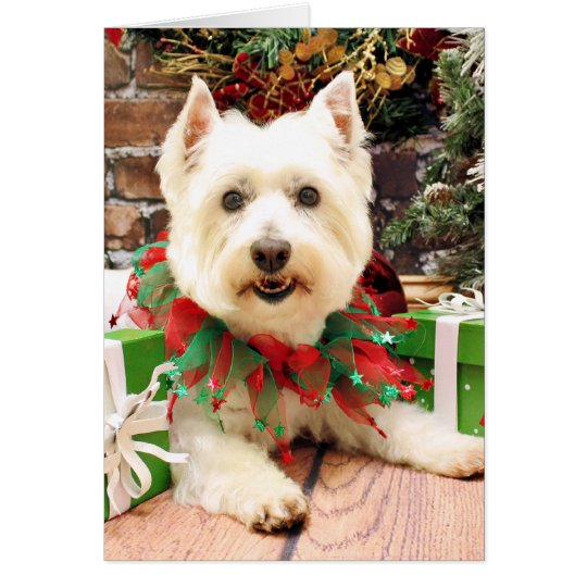 Christmas - West Highland Terrier - Abby Card