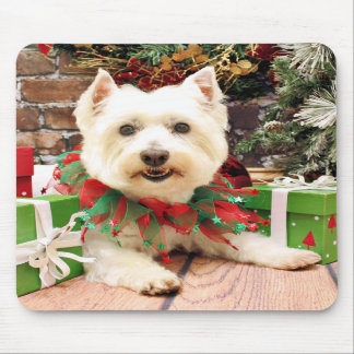 Christmas - West Highland Terrier - Abby Mouse Pad