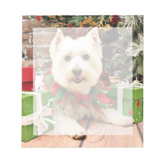 Christmas - West Highland Terrier - Abby Scratch Pads