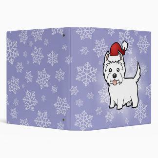 Christmas West Highland White Terrier 3 Ring Binder