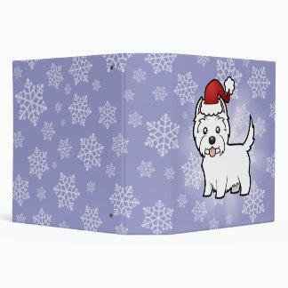 Christmas West Highland White Terrier Binder