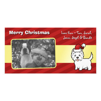 Christmas West Highland White Terrier Personalized Photo Card