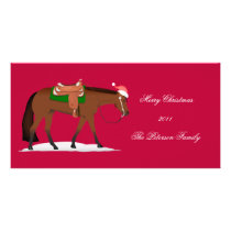 Christmas Western Pleasure Horse Holiday Card