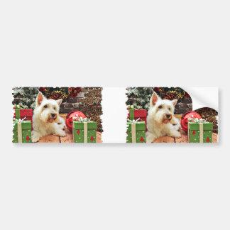 Christmas - Westie - Bailey Bumper Stickers