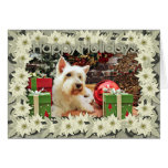 Christmas - Westie - Bailey Greeting Card