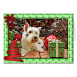 Christmas - Westie - Bailey Greeting Cards