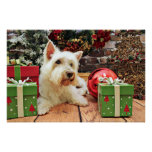 Christmas - Westie - Bailey Posters