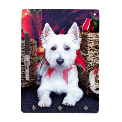 Christmas - Westie - Bella Dry Erase White Board