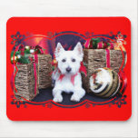 Christmas - Westie - Bella Mousepad