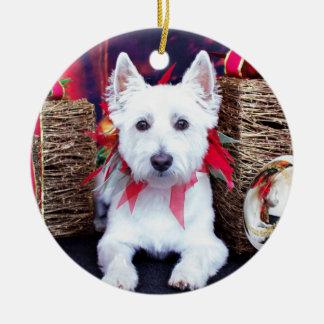 Christmas - Westie - Bella Christmas Ornaments