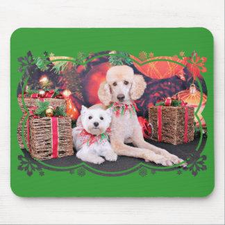 Christmas - Westie JoHannah - Poodle Winston Mouse Pads