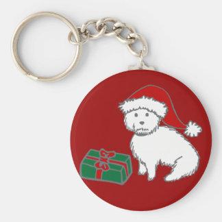 Christmas Westie Keychain